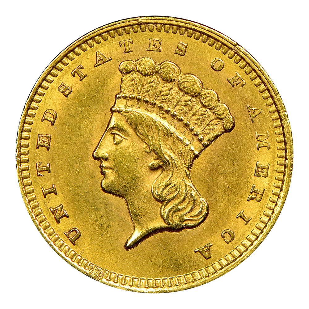 $1 Gold Raw Coins