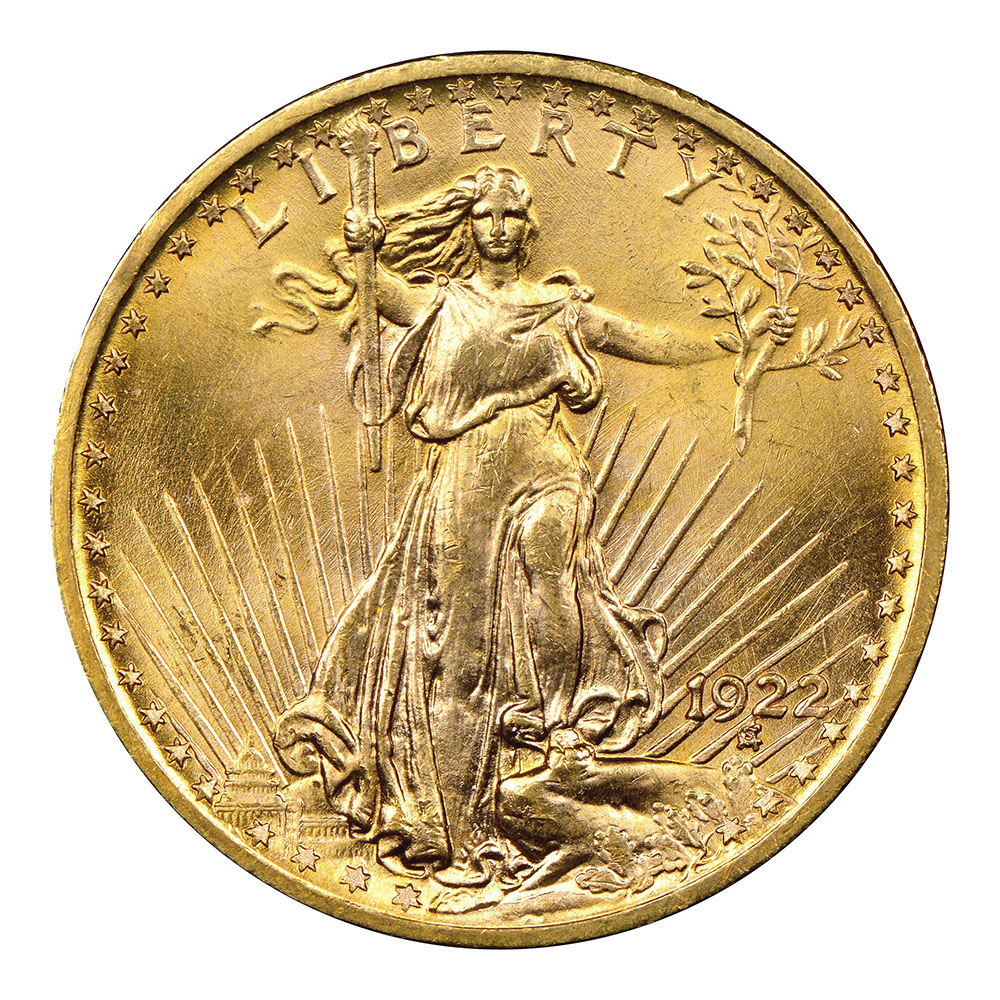 $20 Saint Gaudens Gold Raw Coins