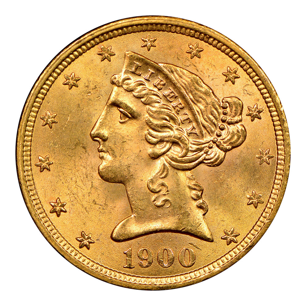 $5 Liberty Gold Raw Coins