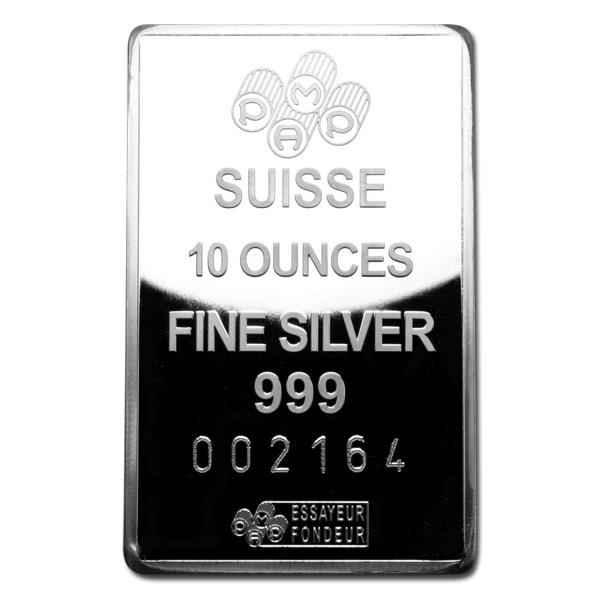5 oz Silver Bars; 10 oz Silver Bars