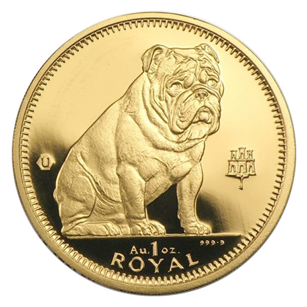Gibraltar Gold Dogs One Ounce Golden Eagle Coins