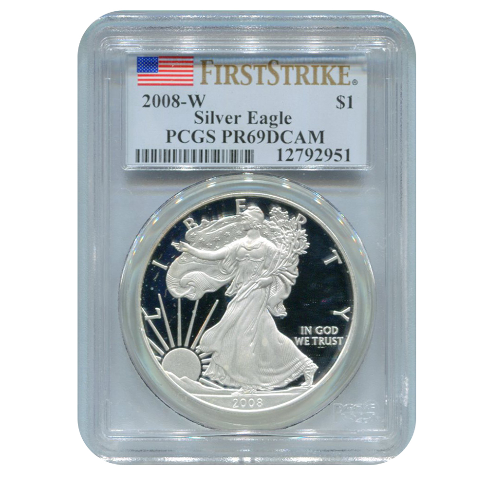 PCGS PR69 Proof Silver Eagles