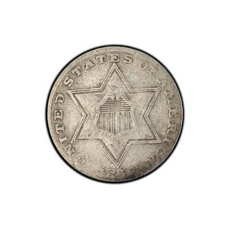 Three Cent Silver Very Fine
