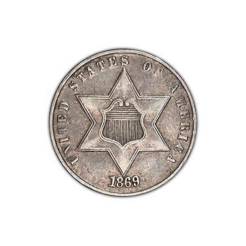 Three Cent Silver Extra Fine