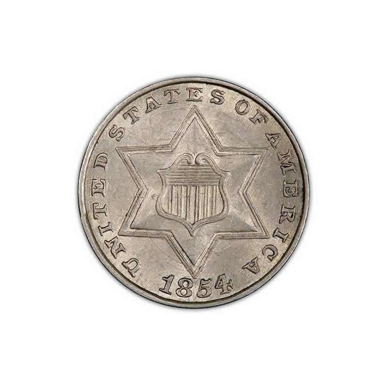 Three Cent Silver UNC and Certified