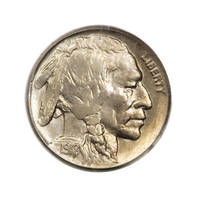 Buffalo Nickels Almost Uncirculated Condition