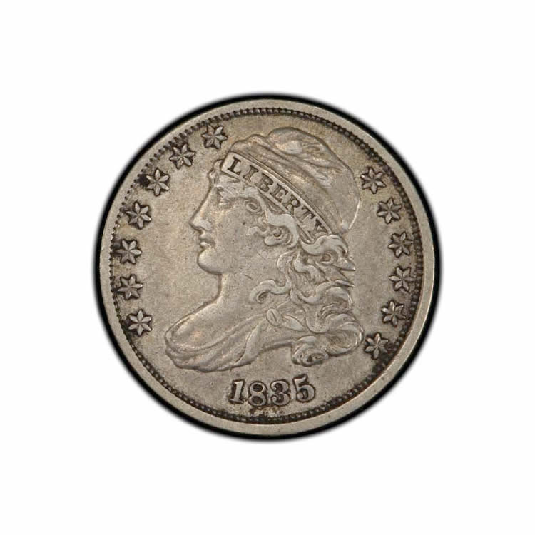 Capped Bust Dimes Extra Fine or Better and Certified