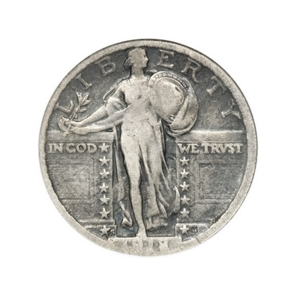 Standing Liberty Quarters Fine Condition