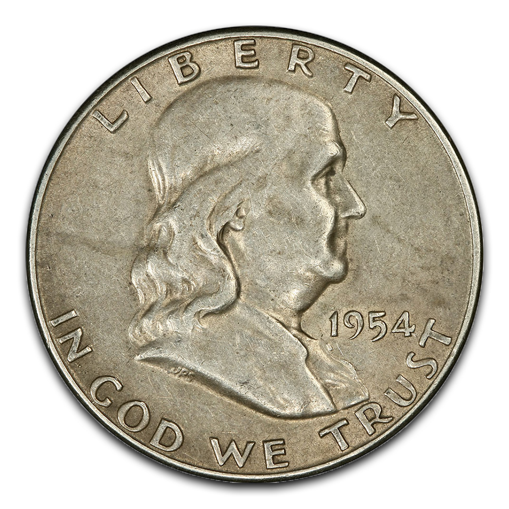 Circulated Franklin Half Dollars