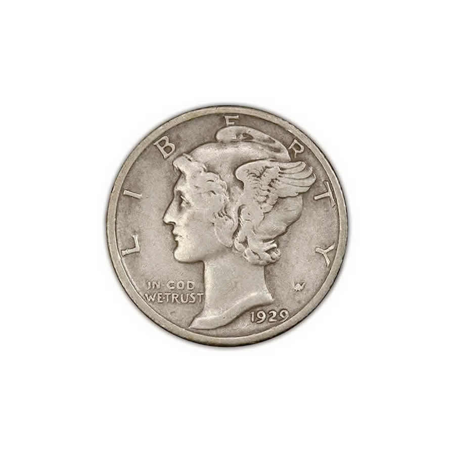 Very Fine Mercury Dimes