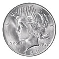 Peace Dollars Almost Uncirculated Condition