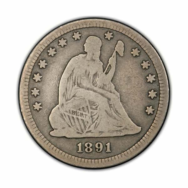 Seated Liberty Quarters Fine