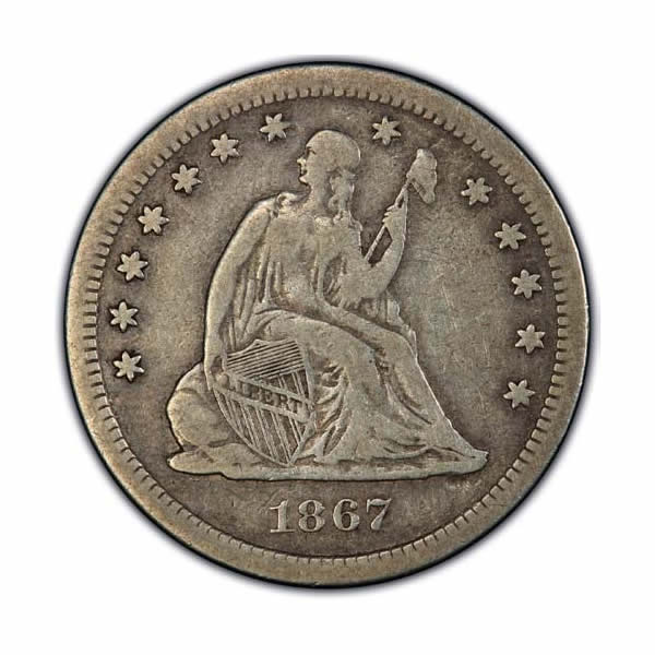 Seated Liberty Quarters Very Fine