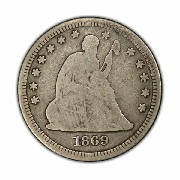 Seated Liberty Quarters Very Good