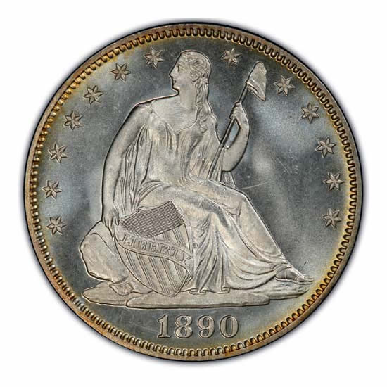 Certified Seated Liberty Half Dollars