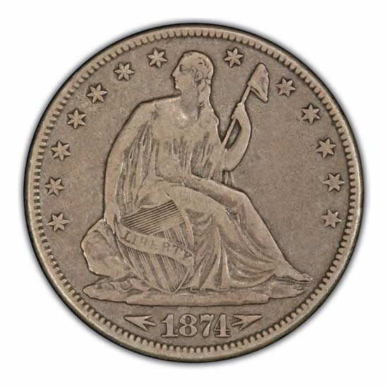 Seated Liberty Half Dollars Very Fine