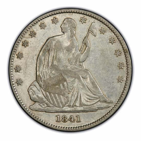 Seated Liberty Half Dollars Extra Fine