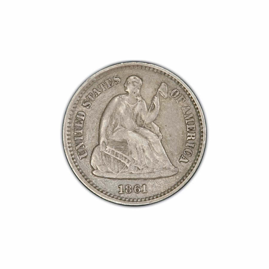 Seated Liberty Half Dimes Extra Fine
