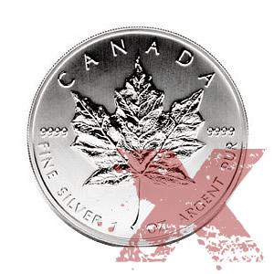 Silver Maple Leaf 1 Oz Circulated Random Year Golden