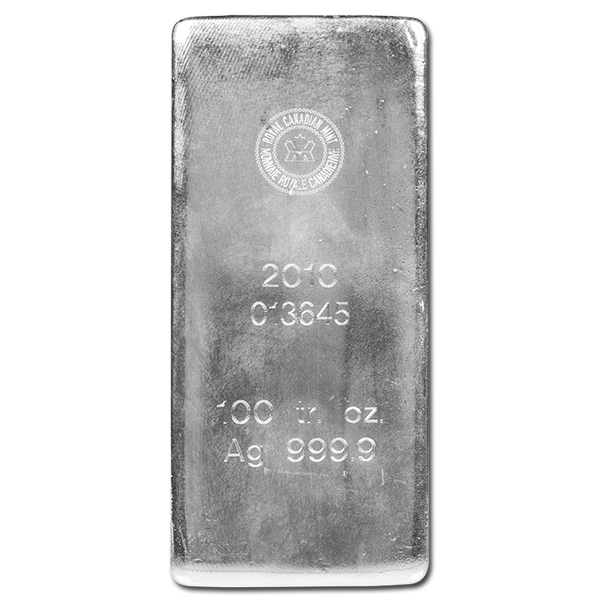 Royal Canadian Mint Rcm Silver Bar 100 Oz Golden Eagle Coins