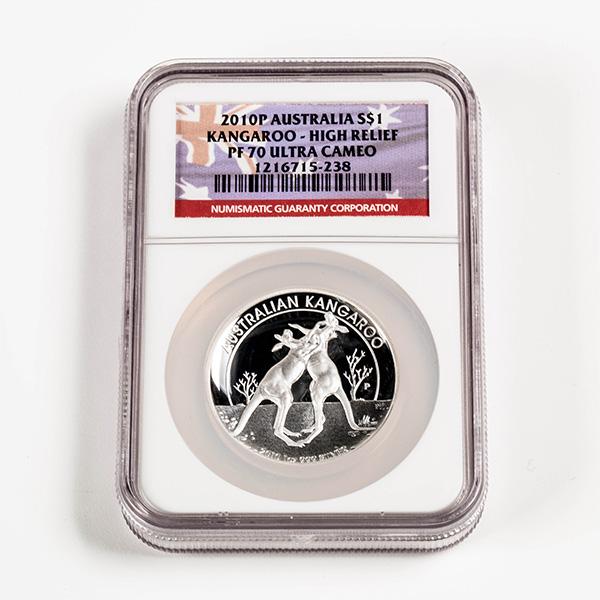 2010 Australian Kangaroo 1 oz Silver High Relief PF70 NGC