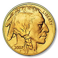 Uncirculated Gold Buffalo Coin One Ounce 2007