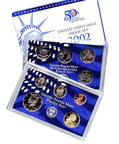 2002 Proof Set Golden Eagle Coins