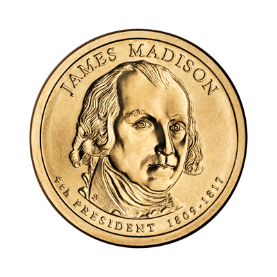 Presidential Dollars James Madison 2007-D 25 pcs (Roll)