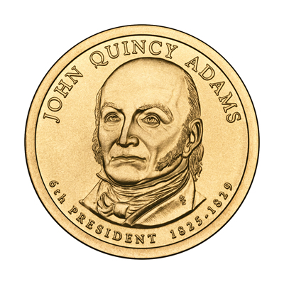 Presidential Dollars John Quincy Adams 2008-D 25 pcs (Roll)