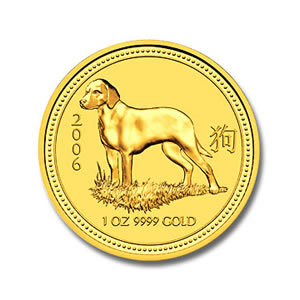 2006 Australia 1 oz Gold Lunar Dog