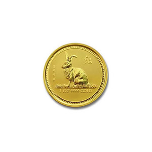1999 Australia 1/20 oz Gold Lunar Rabbit
