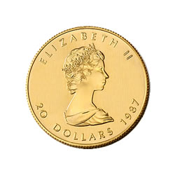 1/2 oz Canadian Gold Maple Leaf Uncirculated - Random Year
