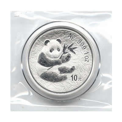 2000 Chinese Silver Panda 1 oz Frosted Ring