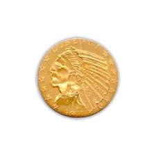 Early Gold Bullion $5 Indian Almost Uncirculated
