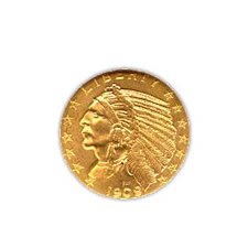 Early Gold Bullion $5 Indian Uncirculated