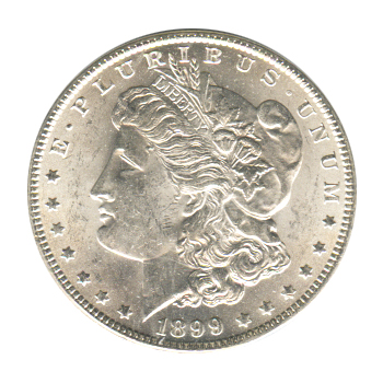 Morgan Silver Dollar Uncirculated 1899-O