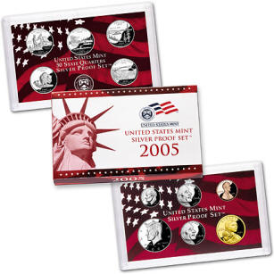 US Proof Set 2005 Silver