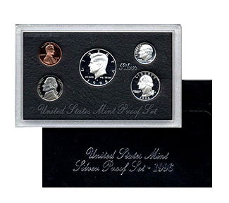 US Proof Set 1996 Silver