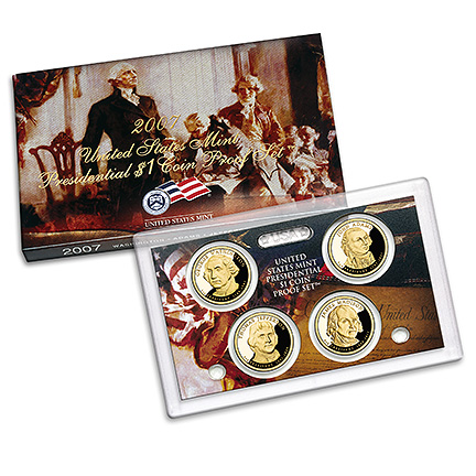 US Presidential Dollar 4pc Proof Set 2007