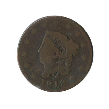 Early Type Matron Head Large Cent 1816-1839 G-VG