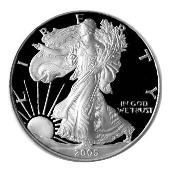 Proof Silver Eagle 2005-W