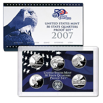 US Proof Set 2007 5pc (Quarters Only)