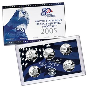 US Proof Set 2005 5pc (QuartersOnly)