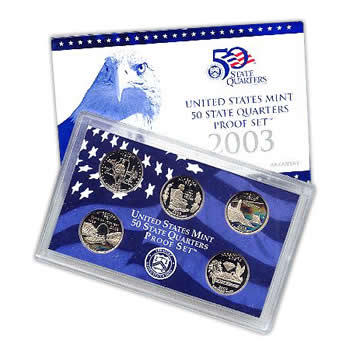 US Proof Set 2003 5pc (Quarters Only)