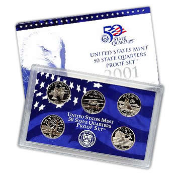 US Proof Set 2001 5pc (Quarters Only)