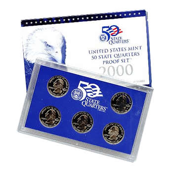 US Proof Set 2000 5pc (Quarters Only)