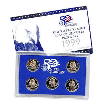 US Proof Set 1999 5pc (Quarters Only)
