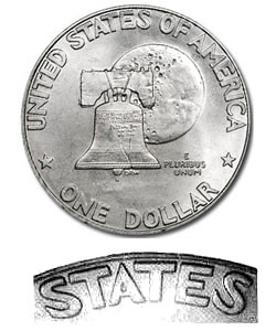 Eisenhower Dollar 1976 BU Type 1
