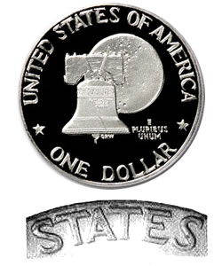 Eisenhower Dollar 1976-S Clad Proof Type 2