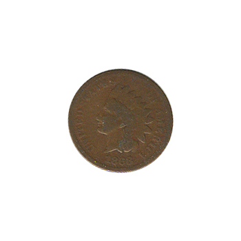 Indian Head Cent 1868 G-VG